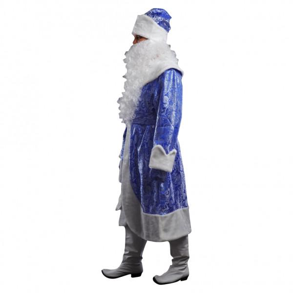 Костюм Деда Мороза синий с узорами. Рис. 2