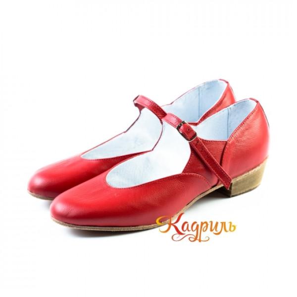 Туфли народные красные. Рис. 6