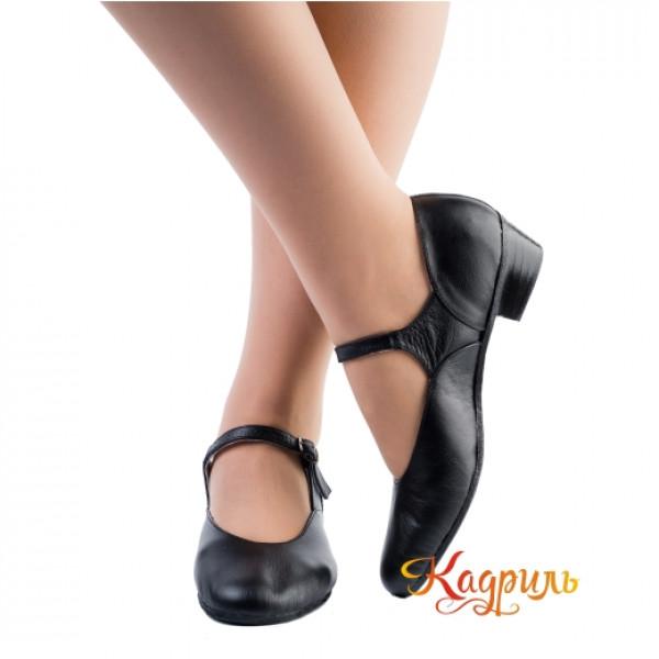 Туфли для народных танцев черные. Рис. 1