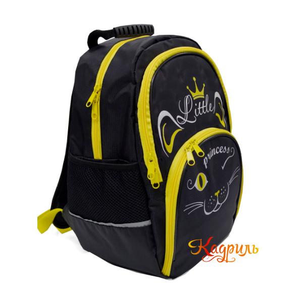 Рюкзак для девочки с желтой кошкой. Рис. 2