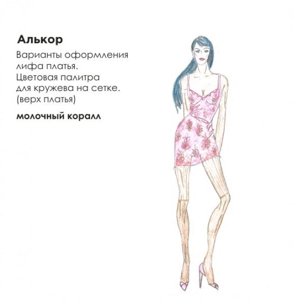 Эскиз короткого платья. Рис. 5