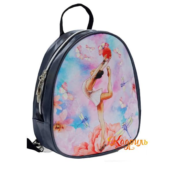 Детский рюкзак с гимнасткой яркий. Рис. 2