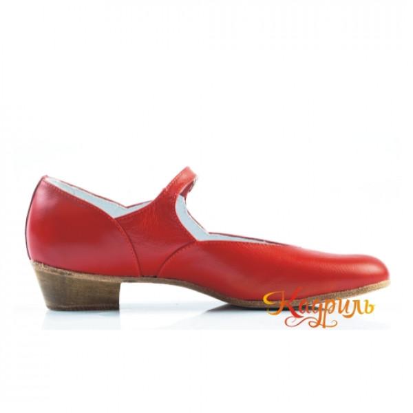 Туфли народные красные. Рис. 5