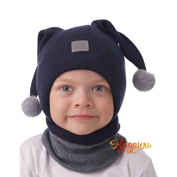 Детская шапка с ушками. Рис. 4