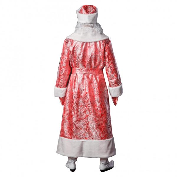 Костюм Деда Мороза красный из парчи. Рис. 3