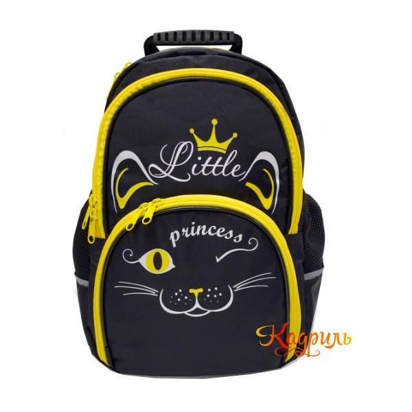 Рюкзак для девочки с желтой кошкой. Рис. 1