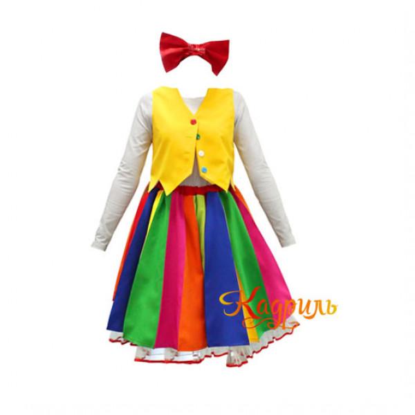 Платье клоуна разноцветное