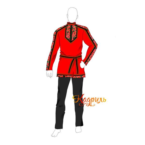 Рубаха мужская красная. Рис. 1