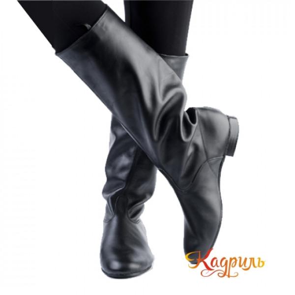 Танцевальные сапоги мужские темные. Рис. 1