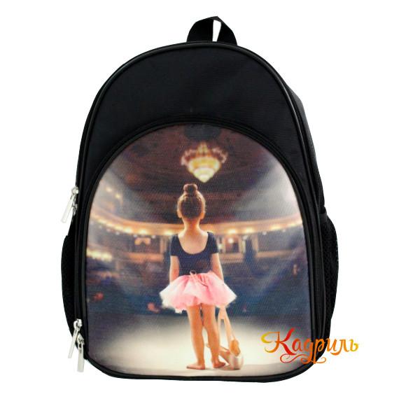 Маленький рюкзак с балериной черный. Рис. 1