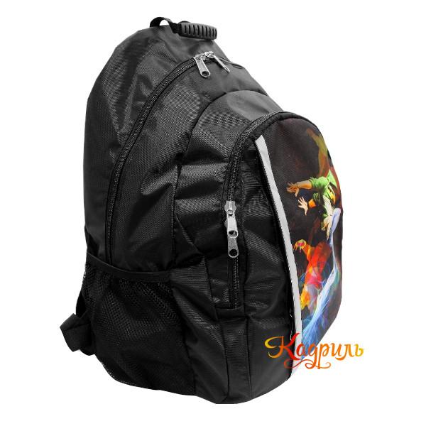 Спортивный черный рюкзак для мальчиков. Рис. 2