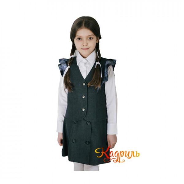 Школьная форма для девочек серая. Рис. 1