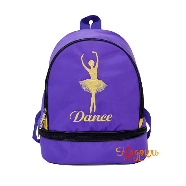 Рюкзак для девочки с балериной синий. Рис. 1