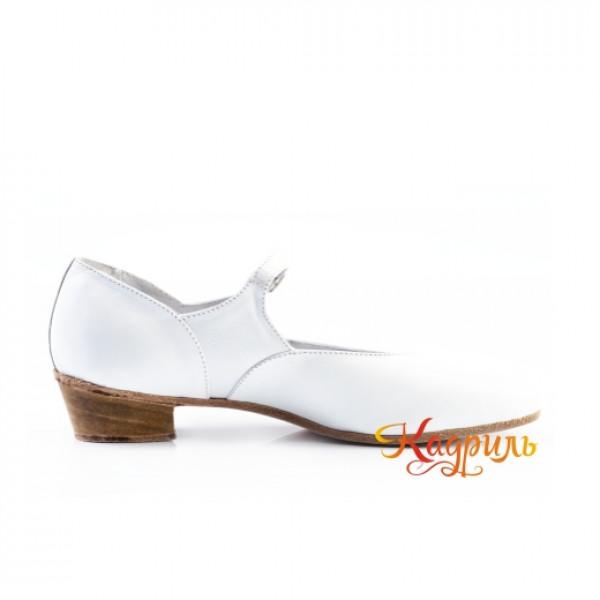 Туфли народные белые. Рис. 3