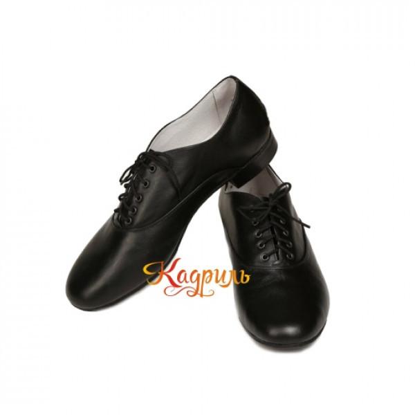 Мужские туфли для народного танца черные . Рис. 1