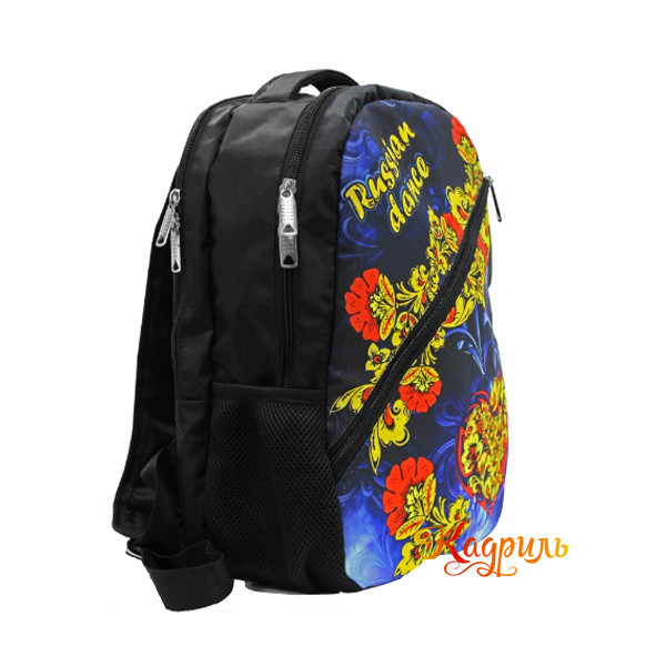 Рюкзак черный с народным рисунком. Рис. 2