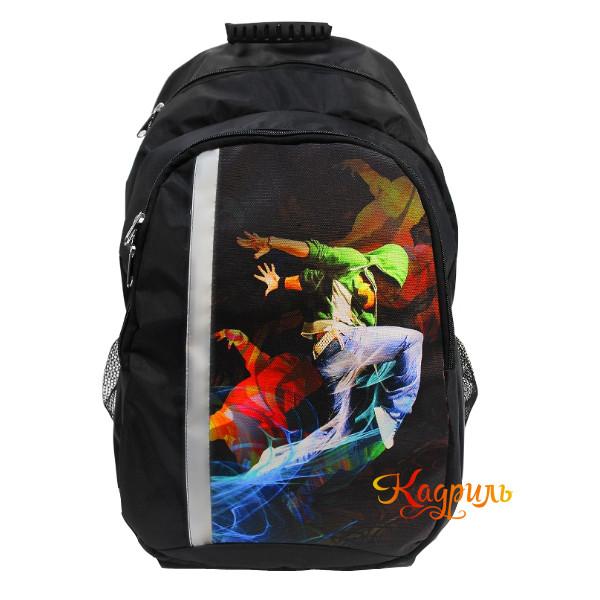 Спортивный черный рюкзак для мальчиков. Рис. 1