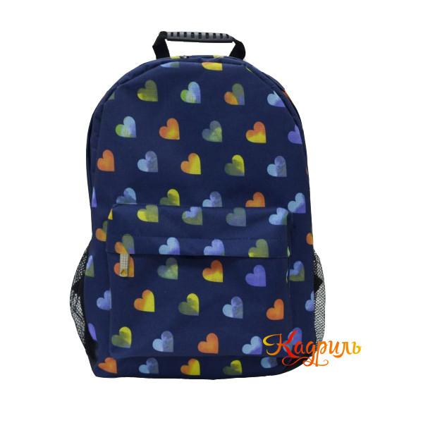 Лёгкий синий рюкзак с рисунком. Рис. 1