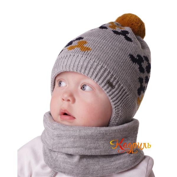 Шапка для мальчика утеплённая