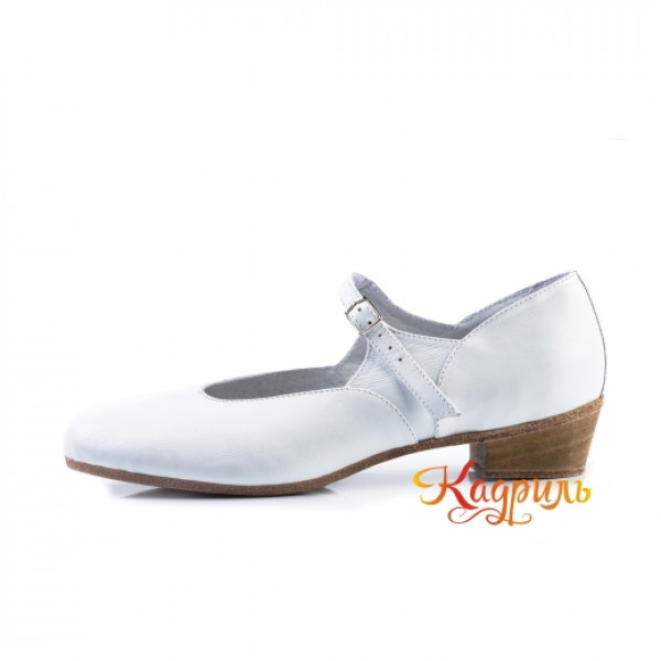 Туфли народные белые. Рис. 7