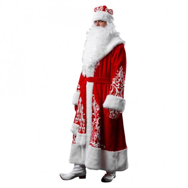 Костюм Деда Мороза из красного велюра. Рис. 2