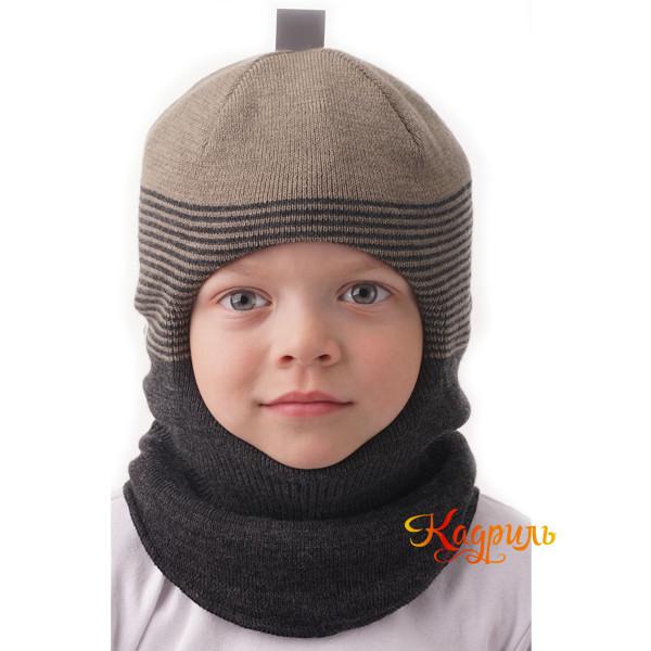 Шапка-шлем для мальчика зимняя. Рис. 2