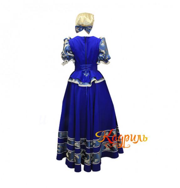 Русский народный костюм темно-синий
