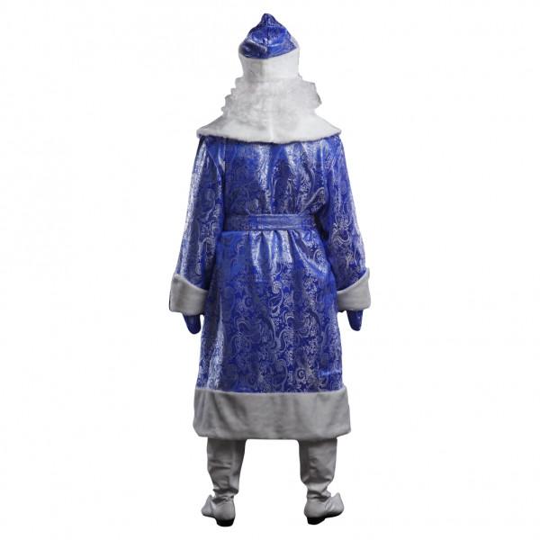 Костюм Деда Мороза синий с узорами. Рис. 3
