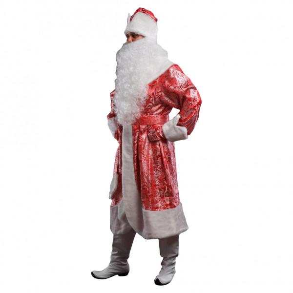 Костюм Деда Мороза красный с узорами. Рис. 2
