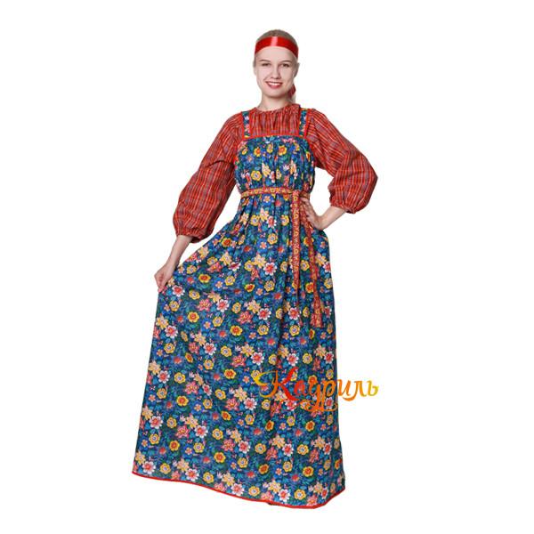 Костюм народный Варвара в цветок. Рис. 1