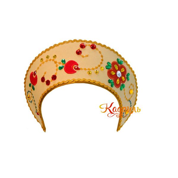 Русский народный костюм золотой. Рис. 3