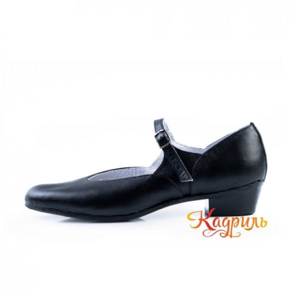 Туфли народные черные. Рис. 7