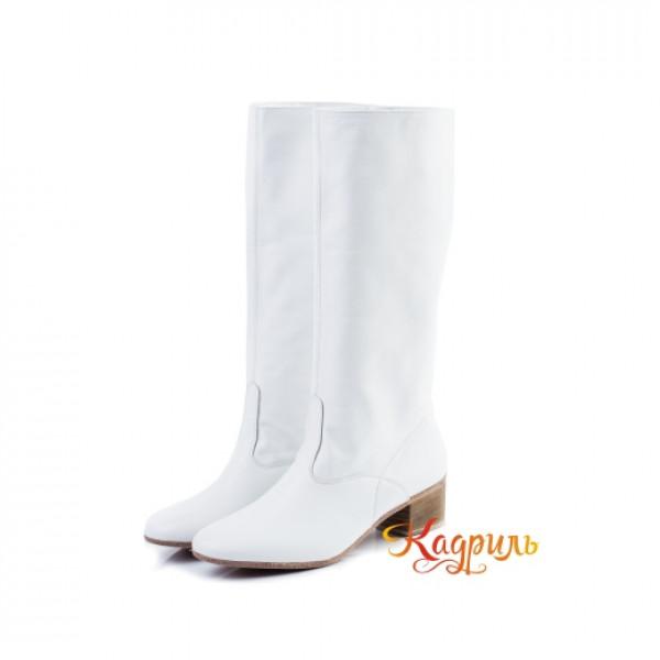 Сапоги танцевальные женские белые. Рис. 1