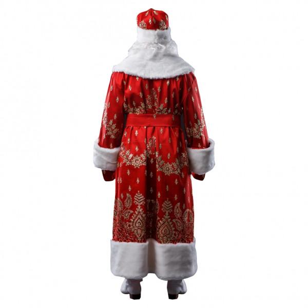 Костюм Деда Мороза красный из тафты. Рис. 3