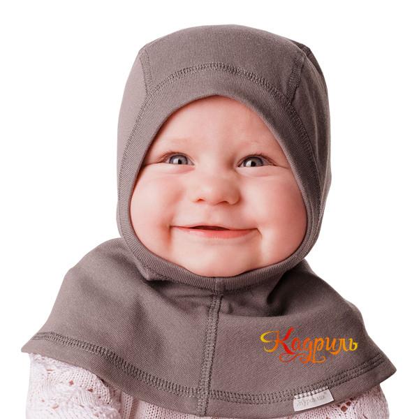 Детская шапка-шлем с манишкой. Рис. 1