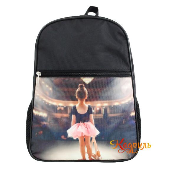 Рюкзак с балериной черный. Рис. 1