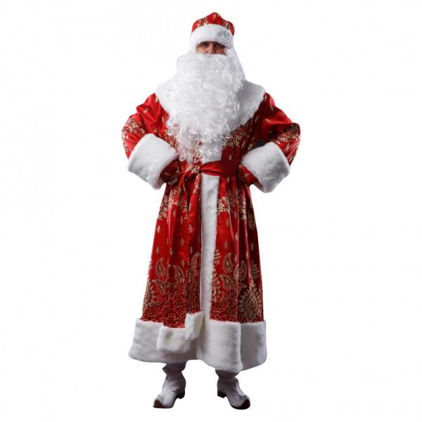 Костюм Деда Мороза красный из тафты. Рис. 1