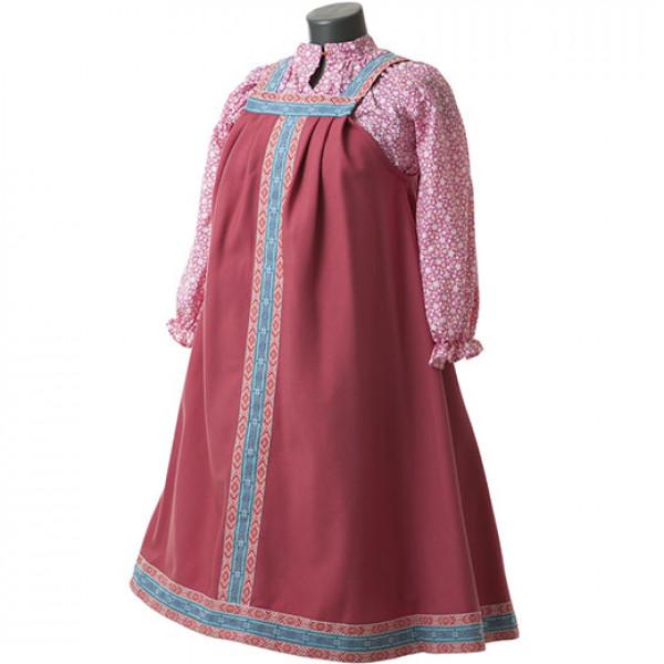Платье в народном стиле. Рис. 4