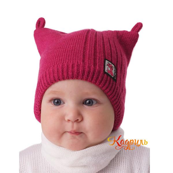 Детская вязаная шапка с ушками. Рис. 2
