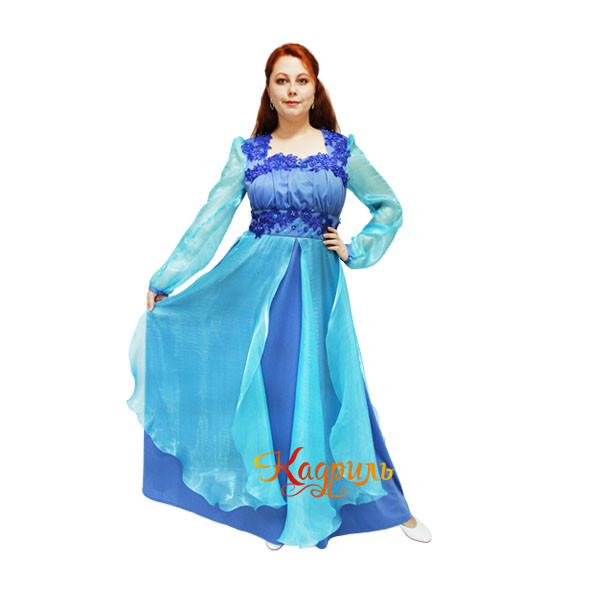 Платье эстрадное голубое. Рис. 1