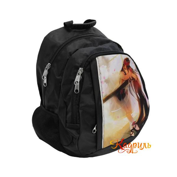 Черный рюкзак с балериной. Рис. 2