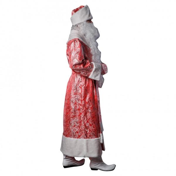 Костюм Деда Мороза красный из парчи. Рис. 2