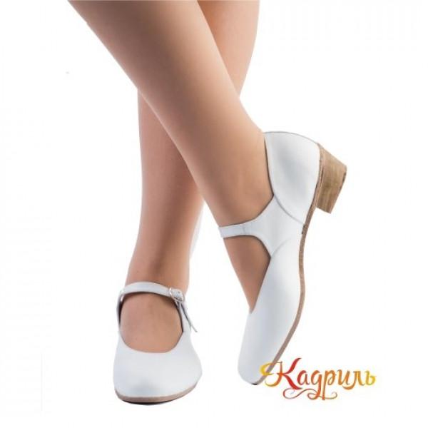 Туфли народные белые. Рис. 1