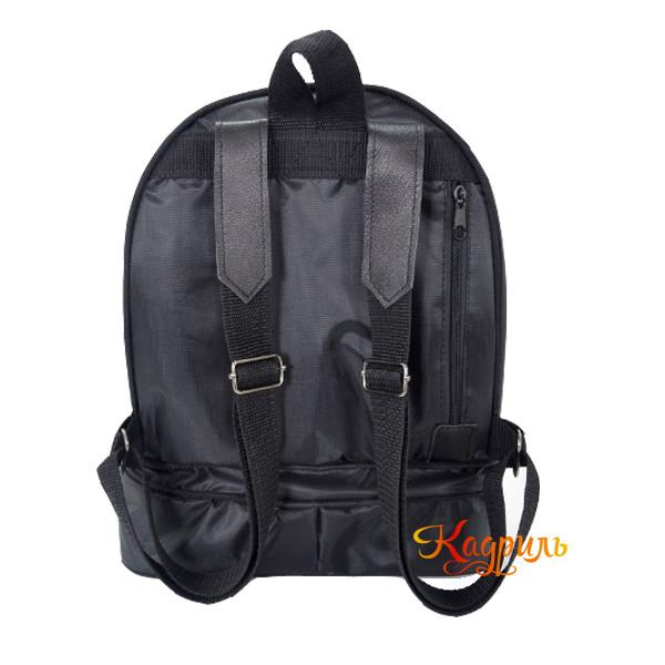 Рюкзак для девочки с аппликацией черный. Рис. 2