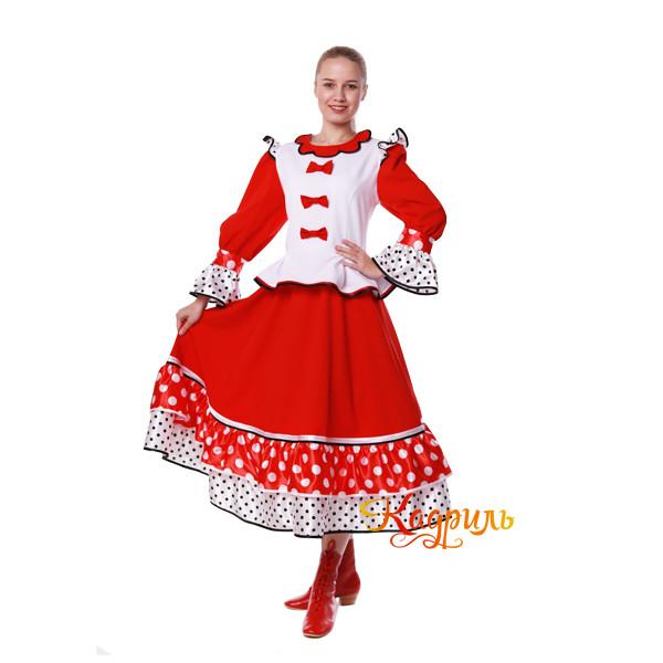 Костюм танцевальный в горох красный. Рис. 2