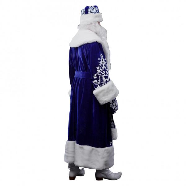 Костюм Деда Мороза из велюра синий. Рис. 3