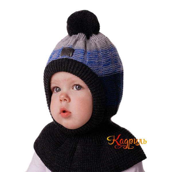 Шапка-шлем зимняя с помпоном. Рис. 1