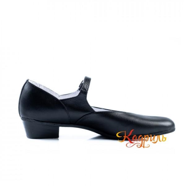 Туфли народные черные. Рис. 6