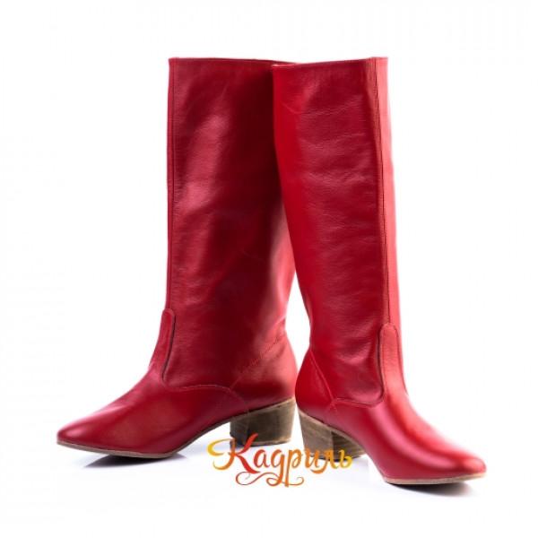 Сапоги народные женские красные. Рис. 4