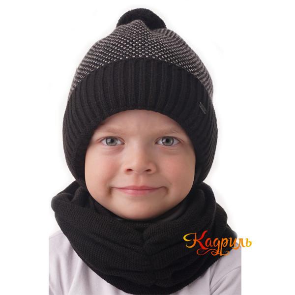 Шапка-шлем для мальчика вязаная. Рис. 1